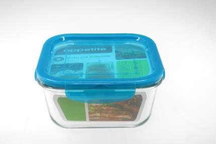 Форма стекл квадр 15х15х7см/1,1л герметичн/кр ТМ Appetite