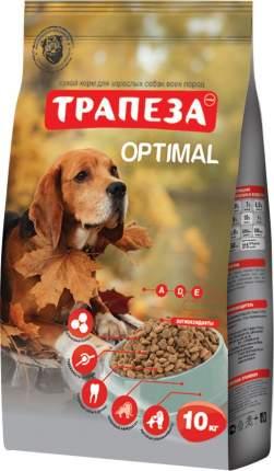 Сухой корм для собак Трапеза Optimal, все породы, мясное ассорти, 10 кг