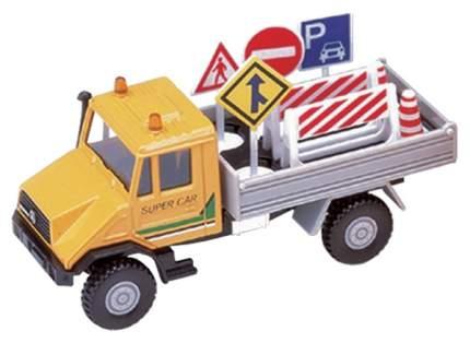 Модель машины Mercedes-Benz Unimog дорожный уборщик Welly 99653
