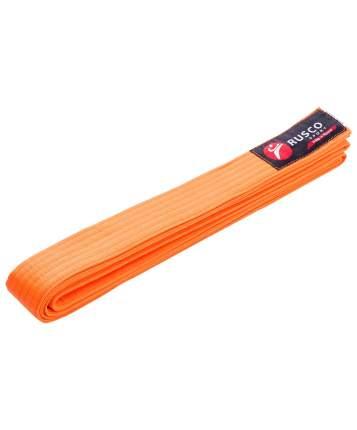 Пояс для единоборств Rusco Sport, 260 см, оранжевый