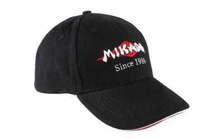 Бейсболка Mikado UM-UB018, черная, One Size