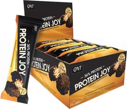 QNT Protein Joy Bar Box 12 x 60g (12 шт.), Печенье-крем