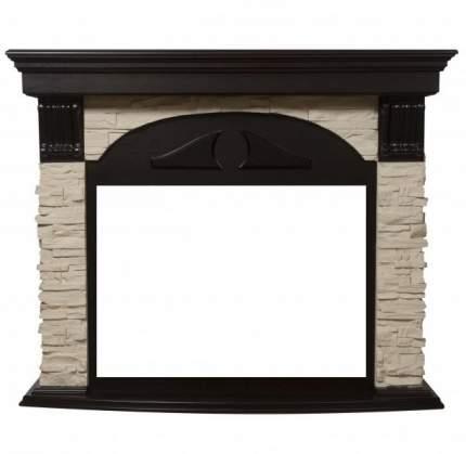 Деревянный портал для камина Electrolux Torre Classic Cлоновая кость/венге