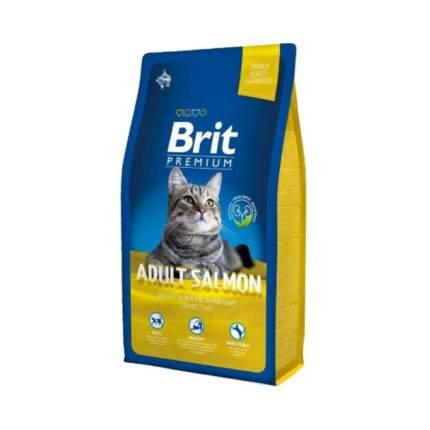 Сухой корм для кошек Brit Premium Cat Adult Salmon, лосось, 1,5кг