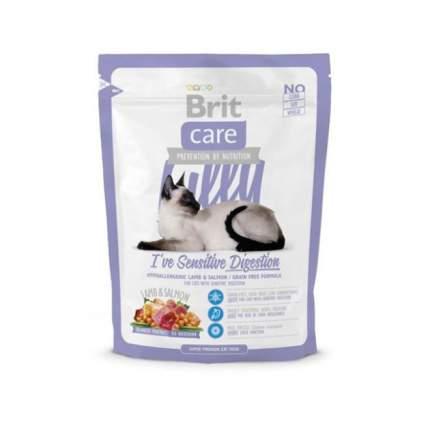 Сухой корм для кошек Brit Care Lilly Sensitive Digestion, ягненок, лосось, 0,4кг