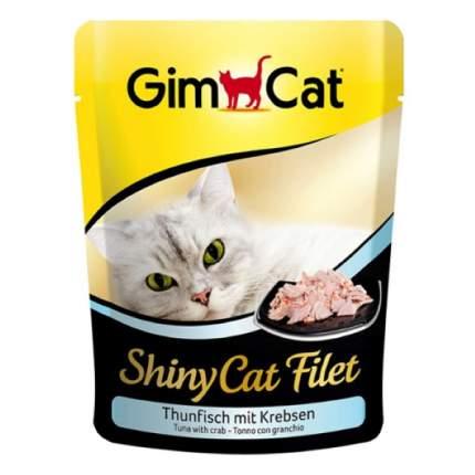 Влажный корм для кошек GimPet ShinyCat, рыба, морепродукты, 70г