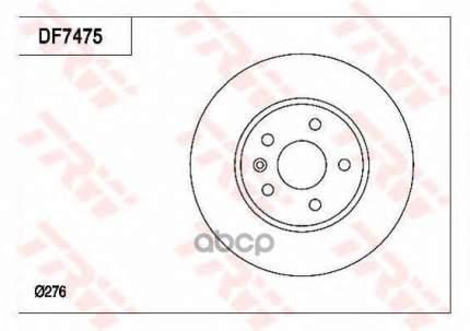 Тормозной диск TRW/Lucas DF7475