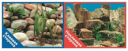 Фон для аквариума Prime самоклеющийся Каменная терасса/Каменный рельеф 30x60см