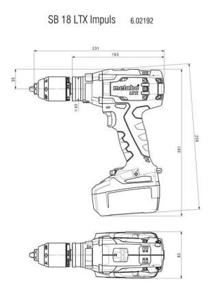 Аккумуляторная дрель-шуруповерт Metabo SB18LTX 602192890 БЕЗ АККУМУЛЯТОРА И З/У
