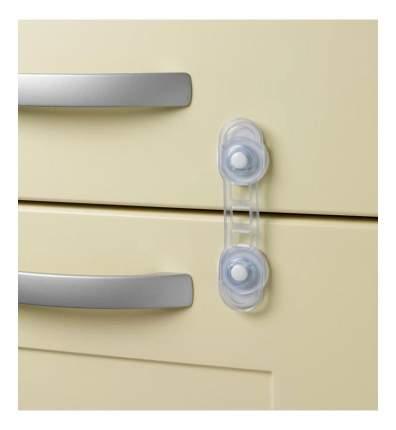 Защитный замок для дверей (2 шт), белый/прозрачный
