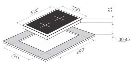 Встраиваемая варочная панель газовая MAUNFELD MGHG 32 15W White