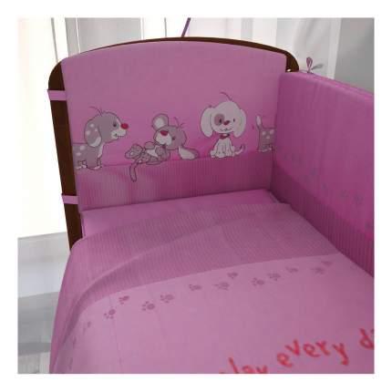 Комплект детского постельного белья Тополь Фея Веселая игра розовый