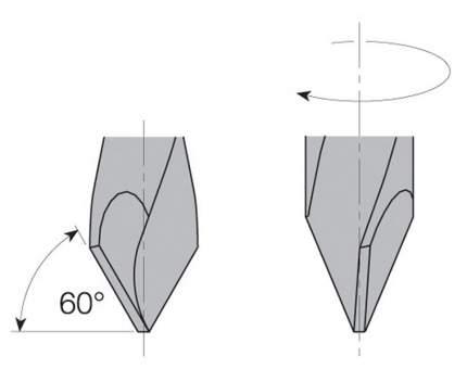 Сверло HW для присадочного станка 8x43x70 Z=2 S=8x20 LH CMT 368.080.12