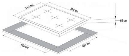 Встраиваемая варочная панель газовая Korting HG 997 CTX Silver