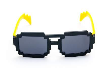 Пиксельные очки желтые дужки