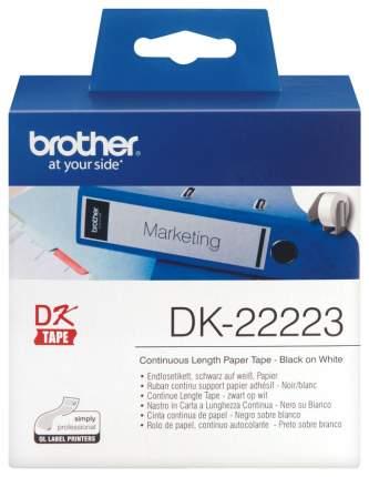 Лента для печати наклеек Brother DK-22223 Черный