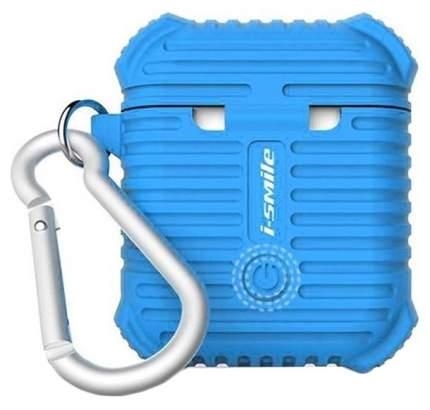 Силиконовый чехол для AirPods i-Smile Silicone Protective Case Синий