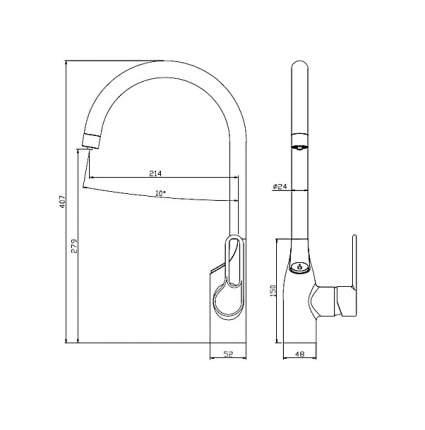 Смеситель для кухонной мойки SmartSant SM134043AA хром
