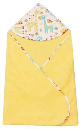 Полотенце детское с уголком AmaroBaby Cute Love Жирафики, 90х90 см
