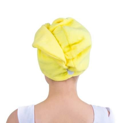 Полотенце-тюрбан для волос Verona, желтое