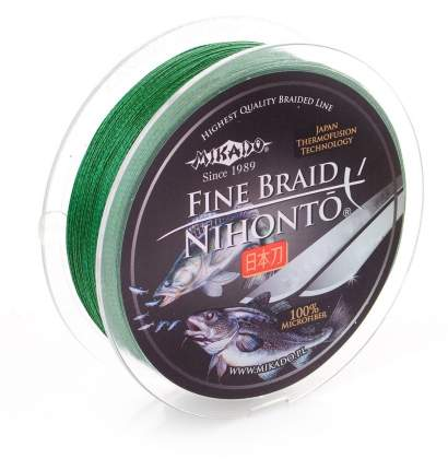 Леска плетеная Mikado Nihonto Fine 0,08 мм, 150 м, 4,95 кг green