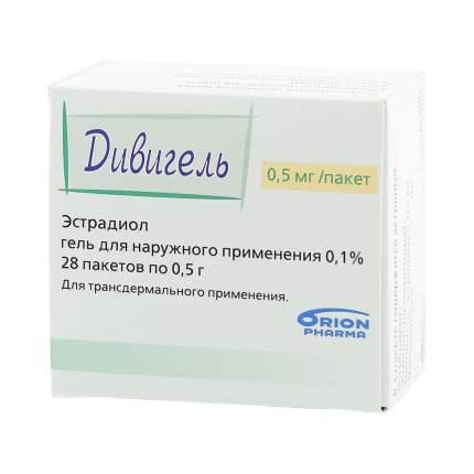 Дивигель гель 0,5 мг 28 шт.