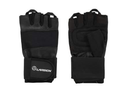 Перчатки для фитнеса Larsen 16-8343, черные, S