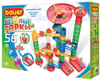 Конструктор пластиковый BAUER Весёлые горки 56 элементов 583B