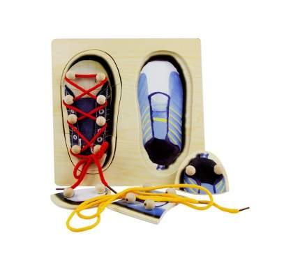 Развивающая игрушка Винтик и Шпунтик Пазл зашнуровать обувь