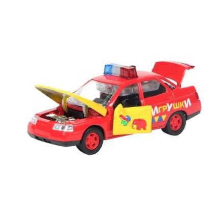 Машина Технопарк инерционная, металлическая lada 2110 игрушки, со светом и звуком