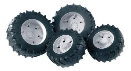 Шины Bruder для сдвоенных колёс с белыми дисками 4 шт. 12,5 см