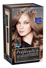 Краска для волос L'Oreal Paris Preference оттенок 7,1 Исландия