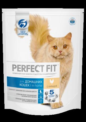 Сухой корм для кошек Perfect Fit In-home, для домашних, курица, 1,2кг