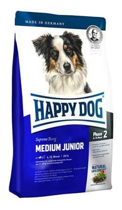 Сухой корм для щенков Happy Dog Supreme Young Medium Junior, птица, лосось, 10кг