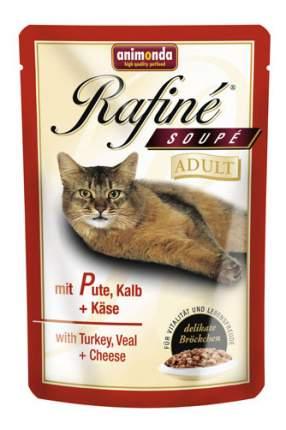 Влажный корм для кошек Animonda Rafin Soup Adult, индейка, телятина, 100г