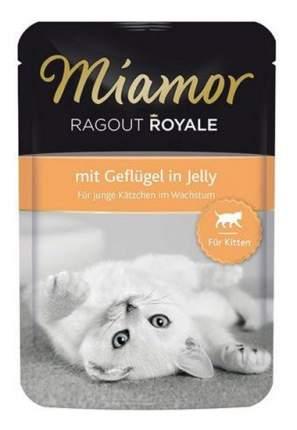 Влажный корм для котят Miamor Kitten Королевское рагу, с птицей в желе, 100г