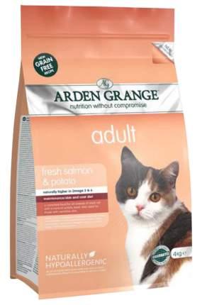 Сухой корм для кошек Arden Grange, беззерновой, лосось, картофель, 4кг