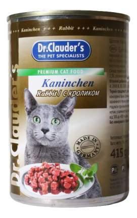 Консервы для кошек Dr.Clauder's, кролик, 20шт, 415г