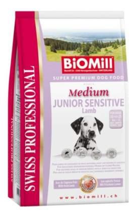 Сухой корм для щенков BIOMILL Swiss Professional Medium Junior Sensitive, ягненок, 12кг