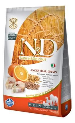 Сухой корм для собак Farmina N&D Medium, для средних пород, треска и апельсин, 2,5кг