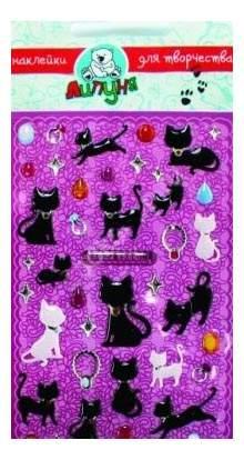 Наклейка декоративная для детской комнаты Большие Гелевые Наклейки Кошки