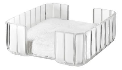 GRACE Салфетница 19,6*19,6*8,4см, пластик, прозрачный