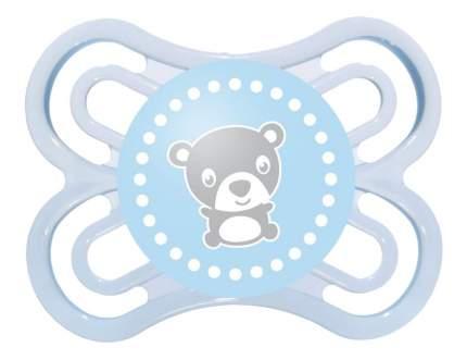 Силиконовая пустышка ортодонтическая MAM Perfect мишка синяя