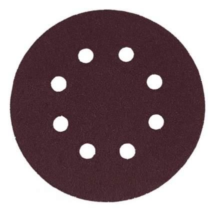 Круги шлифовальные с отверстиями, алюминий-оксидные, 125 мм, 5 шт, Р 80 КУРС 39784