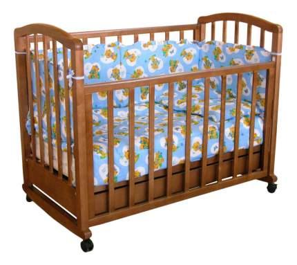 Кровать Тополь Фея 603 темный мед