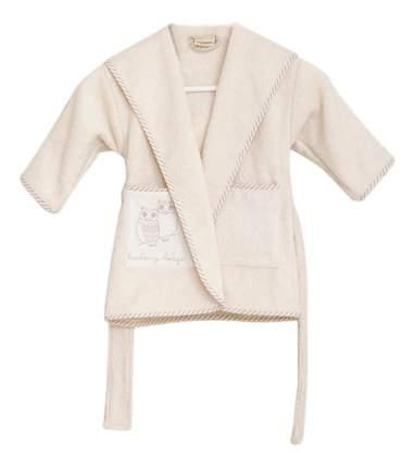 Халат Luxberry Совята жемчужный/коричневый/белый (3-4 года)