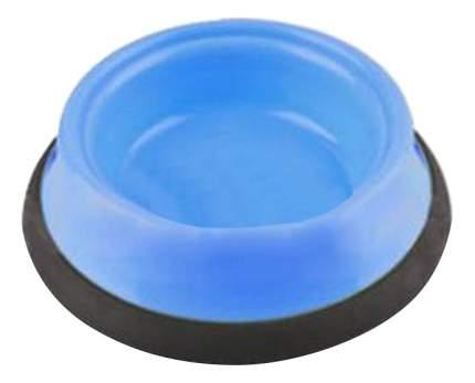 Одинарная миска для кошек и собак GiGwi, пластик, резина, синий, 0.4 л