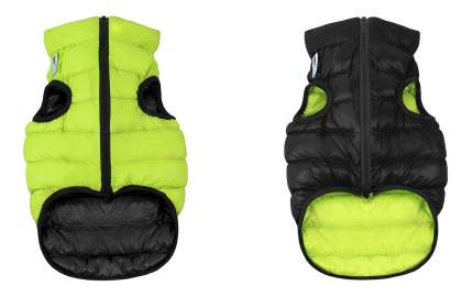 Куртка для собак AiryVest размер S унисекс, черный, зеленый, длина спины 35 см