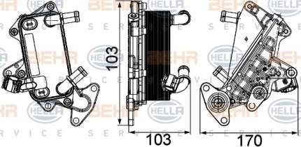 Радиатор АКПП Hella 8MO 376 725-311