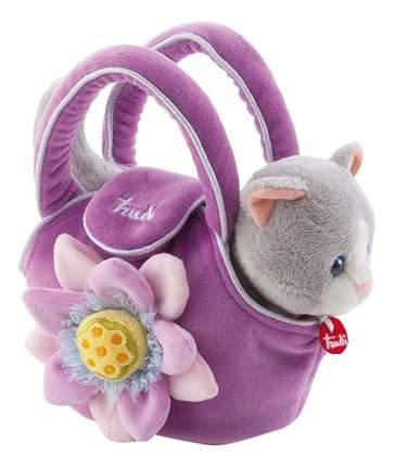 Мягкая игрушка Trudi Котёнок в сумочке, 15 см